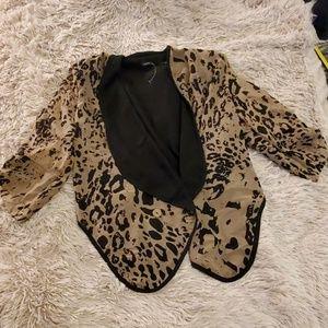 Cute Leopard print Poetry jacket size L